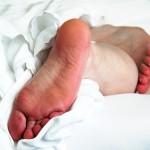 男性の足裏